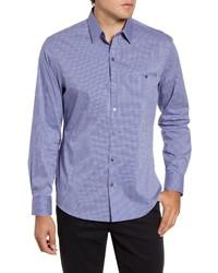 Zachary Prell Ozekin Regular Fit Check Button Up Sport Shirt