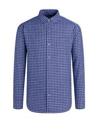 Bugatchi Shaped Fit Check Button Up Shirt