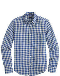 J.Crew Slim Irish Linen Shirt In Gingham