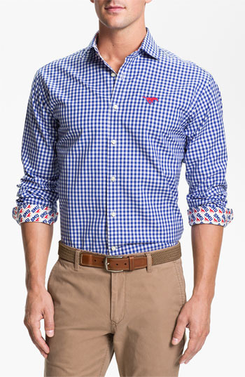 Thomas Dean Southern Methodist University Gingham Sport Shirt