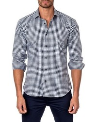 Trim fit gingham sport shirt medium 590120
