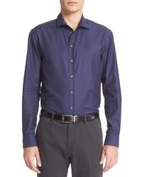 Armani Collezioni Trim Fit Tonal Gingham Sport Shirt