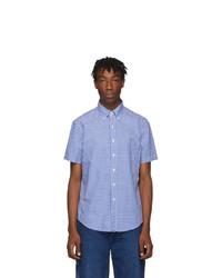 Polo Ralph Lauren Blue And White Check Oxford Shirt