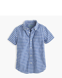 J.Crew Kids Short Sleeve Secret Wash Shirt In Gingham