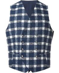 Blue Gingham Waistcoat