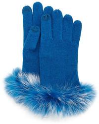 Neiman Marcus Tech Gloves W Fur Cuff