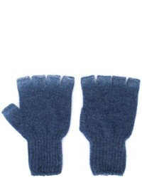 The Elder Statesman Heavy Spray Fingerless Gloves