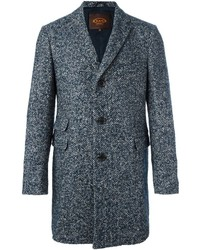 Tod's Herringbone Tweed Coat