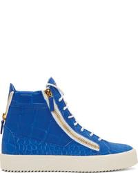 Blue high top sneakers original 536418