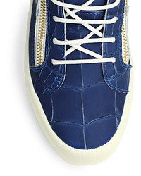 Giuseppe Zanotti Embossed Leather Low-Top Sneakers FXy5ucMEX