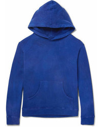 The Elder Statesman Gart Dyed Fleece Back Cotton Jersey Hoodie