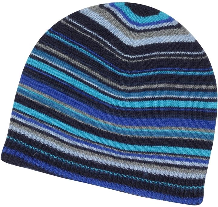 Paul Smith Brown Signature Stripe Wool Blend Beanie Hat
