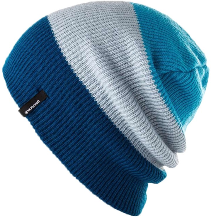 ... Spacecraft Collective Offender 3 Stripe Beanie Hat Slouch Knit ... 6ce63fe0672e