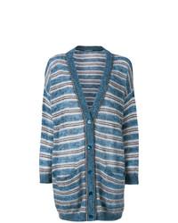 Alberta Ferretti Striped Buttoned Cardigan