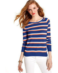 Tommy Hilfiger Long Sleeve Mesh Striped Sweater