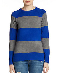 French Connection Wide Stripe Crewneck Sweater