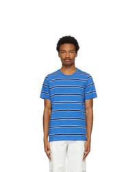 Marni Three Pack Blue Striped T Shirts