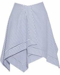 J.W.Anderson Asymmetric Layered Striped Cotton Mini Skirt