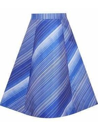 Striped satin midi skirt medium 6991663