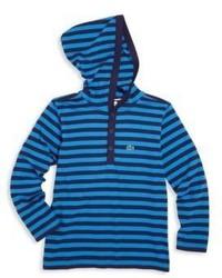 Blue Horizontal Striped Hoodie