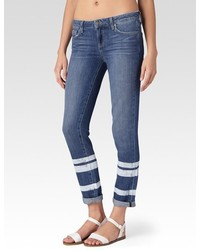 Paige Jimmy Jimmy Skinny Painted Stripe