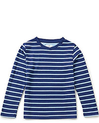 Class Club Big Boys 8 20 Striped Long Sleeve V Neck Tee