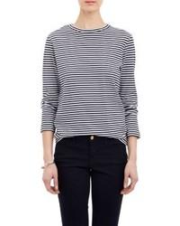 Stripe long sleeve t shirt blue medium 181942