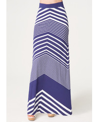 Bebe chevron stripe maxi skirt medium 212396