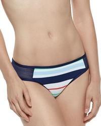 Splendid Mesh Side Striped Swim Bottom