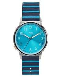 Canton and Hall Davis Slim Nylon Strap Watch