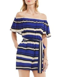 Vince Camuto Kalai Stripe Off The Shoulder Romper
