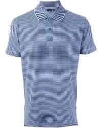 Blue Horizontal Striped Polo