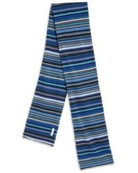 Blue Horizontal Striped Scarf