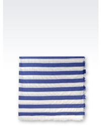 Accessories Scarf In Striped Wool And Cashmere