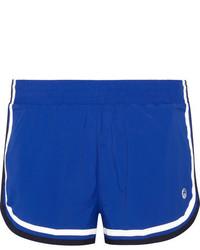 Tory Sport Striped Stretch Shell Shorts Royal Blue
