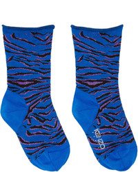 Kenzo Blue Tiger Stripe Socks