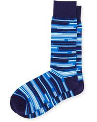 Joe's Jeans Joes Micro Striped Knit Socks Bluemulti