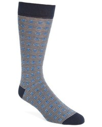 Ted Baker London Dot Stripe Crew Socks