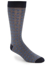 Ted Baker London Dot Stripe Pattern Organic Cotton Socks