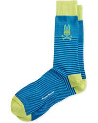 Micro stripe socks blue medium 204494