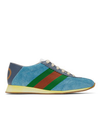 Gucci Blue Suede Sneakers