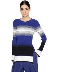 Sportmax Striped Stretch Rib Knit Sweater