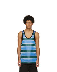 Marni Blue And Green Striped Tank Top