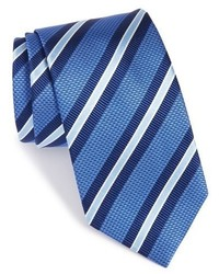 Blue Horizontal Striped Tie