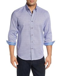 Robert Graham Alix Regular Fit Dobby Houndstooth Sport Shirt