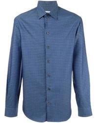 Armani Collezioni Houndstooth Pattern Shirt