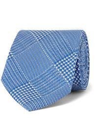 Blue Houndstooth Tie