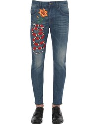 Gucci 175cm Snake Stone Washed Denim Jeans