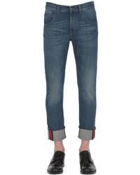 Gucci 175cm Web Cuff Cotton Denim Jeans
