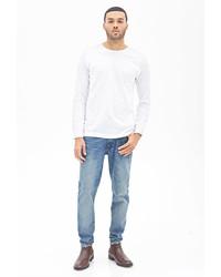 21men 21 Medium Wash Slim Fit Jeans